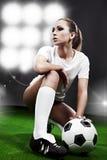 Sexy voetballer, Royalty-vrije Stock Foto's