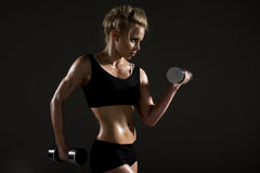 vrouw die lichaamsbeweging doen Royalty-vrije Stock Foto