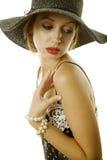 Sexy vrouw in hoed Royalty-vrije Stock Afbeeldingen