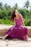 vrouw in kleding Royalty-vrije Stock Afbeeldingen