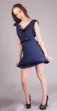 Sexy vrouw in korte kleding stock fotografie