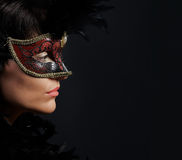 Sexy vrouw in masker Royalty-vrije Stock Foto