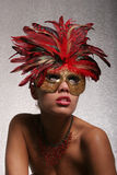 Sexy vrouw in masker Royalty-vrije Stock Afbeelding