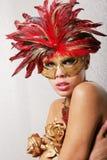 Sexy vrouw in masker royalty-vrije stock fotografie