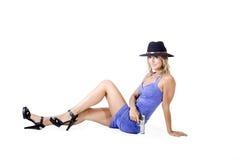 Sexy vrouw met een kanon royalty-vrije stock afbeelding