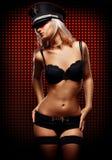Sexy vrouw in ondergoed Stock Foto's