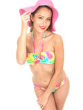 Sexy Vrouw Pin Up Model in een Bikini Stock Afbeelding