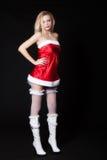 Sexy Vrouw Santa Claus royalty-vrije stock afbeelding