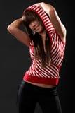 vrouw in studio Royalty-vrije Stock Fotografie