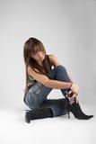 Sexy vrouw in studio stock foto