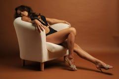 Sexy vrouw in zwempak Royalty-vrije Stock Afbeeldingen