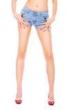 Sexy vrouwelijke benen en handen Royalty-vrije Stock Afbeeldingen