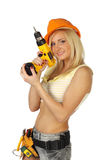 vrouwelijke bouwvakker Stock Foto's