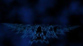 Sexy Vrouwelijke dansende achtergrond 1 van het Skelettenvj Pixel stock illustratie