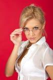 Sexy vrouwenleraar Stock Fotografie