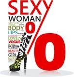 Sexy vrouwentekst Royalty-vrije Stock Foto