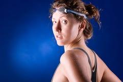 Sexy vrouwenzwemmer Royalty-vrije Stock Afbeeldingen