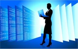web developer wireless internet background Stock Photos