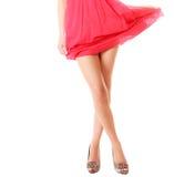 Sexy weibliche Beine in den hohen Absätzen lokalisiert Teil der Karosserie Stockbild