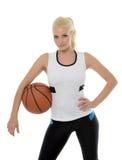 Sexy weiblicher Basketball-Spieler - Studio baller Lizenzfreies Stockfoto