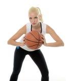 Sexy weiblicher Basketball-Spieler - Studio baller Stockfotografie