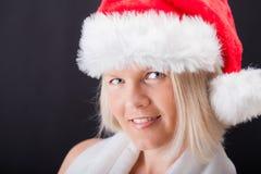 Sexy Weihnachtsmädchen Stockfoto