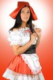 Sexy Weinig Rode Berijdende Kap Royalty-vrije Stock Fotografie