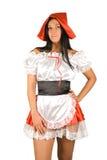 Sexy Weinig Rode Berijdende Kap Stock Afbeeldingen