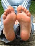 sexy wet feet 3 Stock Images