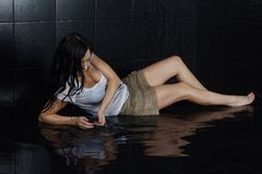 Sexy wet girl Stock Images