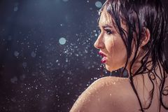 Wet Girl royalty free stock photo