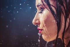 Wet Girl Stock Photography