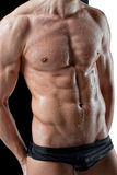 wet muscle man body Royalty Free Stock Photos