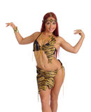 Sexy wild woman amazon Royalty Free Stock Photo