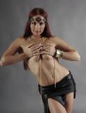 Sexy wild woman  amazon Stock Photo