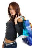 Sexy winkelend meisje royalty-vrije stock afbeelding
