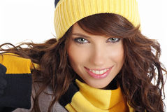 Sexy winter girl Stock Photography