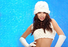 winter girl, Fashion concept Royalty Free Stock Images