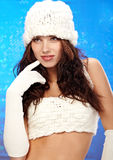 Sexy winter girl, Fashion concept Royalty Free Stock Photos