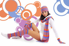 Sexy winter girl portrait Stock Photography