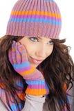 Sexy winter girl portrait Royalty Free Stock Photos