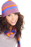Sexy winter girl portrait Stock Images