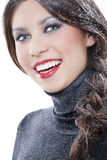 Sexy winter makeup Royalty Free Stock Image