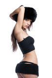 Sexy winter outfit Stock Image