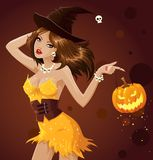Sexy witch Stock Image