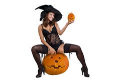 Sexy witch Stock Photography