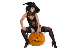 Sexy witch Royalty Free Stock Image