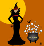 witch with brew Royalty Free Stock Images
