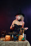 witch on a dark background Stock Images