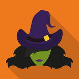 Witch Icon, Vector Illustration Royalty Free Stock Photo